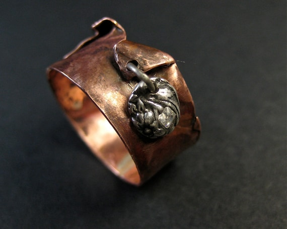 Charmed Copper Ring