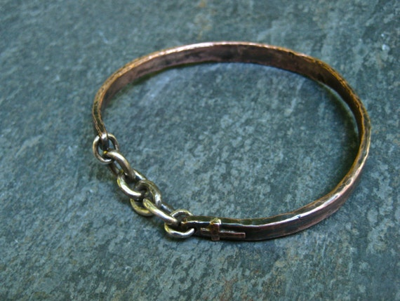 Copper Bangle Mixed Metals  Faith Reserved for T