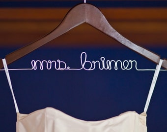 Personalized Custom Hanger for your Wedding Dress - Dawn's Craft Store