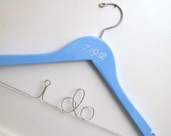 I Do Bridal Hanger with Wedding Date - Something Blue