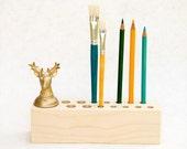 Sale 50% Off Salvaged Wood Pencil Holder Desk Organizer Pen Holder Office Organizer FINE STEVE