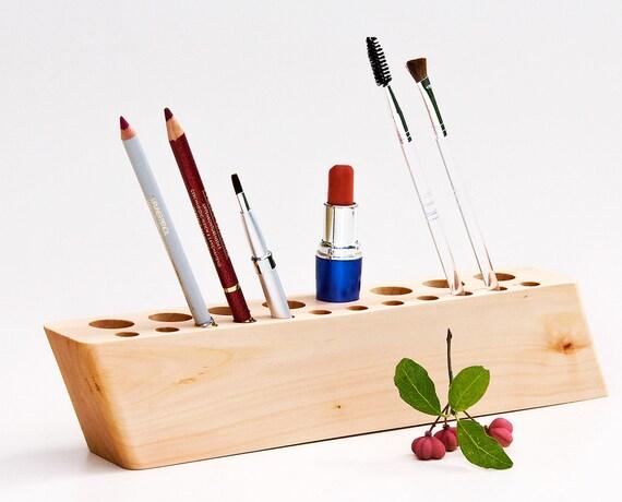Items Similar To Wooden Countertop Makeup Organizer