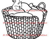 Laundry Basket With Duckie