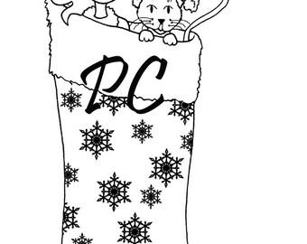 Pattieboop Allie Christmas Stocking