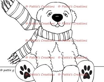 Pattieboops Holiday Polar Bear
