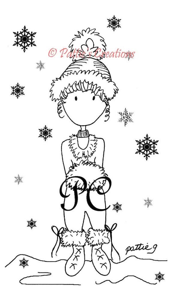 Pattieboop Winter Snowflakes