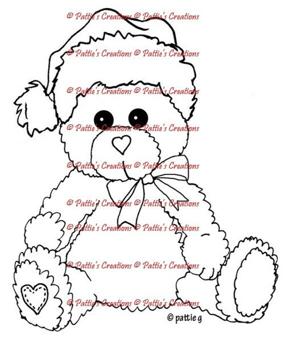 Pattieboops Holiday Bear