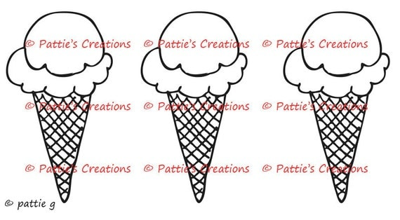 Ice Cream Cone Trio