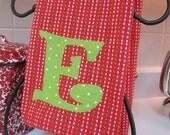Custom Monogrammed Holiday  Kitchen Towel