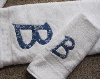 Custom Monogrammed Bath Towel Set