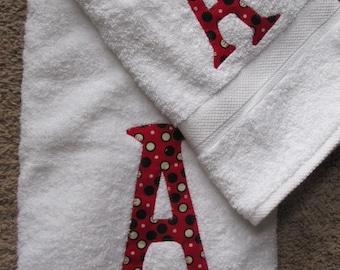 Monogrammed Hand and Bath Towel set