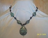 Black and Green Stone Necklace