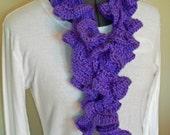 Spiral Lilac Crochet Scarf