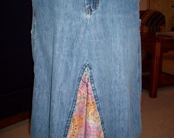 Denim TieDye Skirt