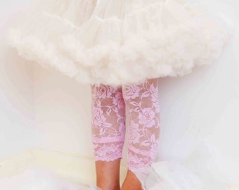 Pink Lace Leggings for Toddler Luxury Soft