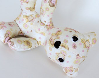 Butter Cream and Pink Nursery Animals baby teddy bear