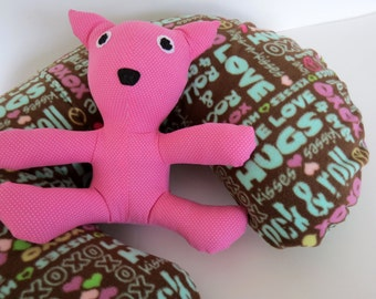 Love, Hugs, and Rock & Roll 4ever baby Boppy cover or nursing pillow cover