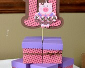 8 Pig Birthday Party Favor Boxes