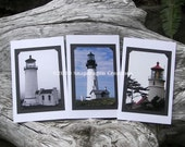 Lighthouse greeting cards set of 3
