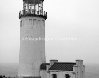 North Head Lighthouse Black & White Photograph
