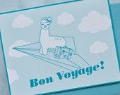 Alpaca in the Sky // Bon Voyage // Paper Airplane Card