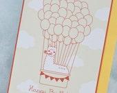 Alpaca in the Sky // Happy Birthday // Air Balloon Card