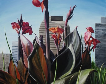 Skyscrapers, Canna Lillies