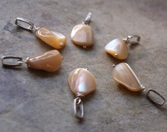 DIY Mother of Pearl Charm Pendant
