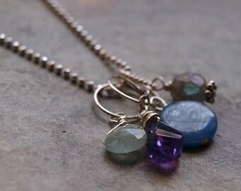 Aquamarine Charm Pendant- Create Your Own Charm Necklace #42