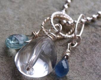 Clear Quartz Polished Charm Pendant- Create your own charm necklace #31