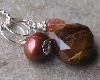 DIY Brown Pearl Charm Pendant