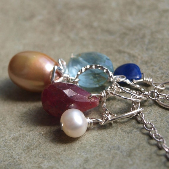 LAST CHANCE Large Taupe Pearl Charm Pendant