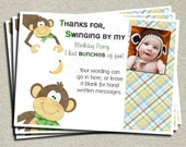 Monkey Thank You Card -  Printable Thank You Card