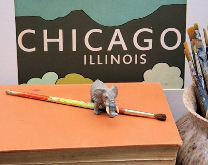 Chicago Illinois // Modern Baby Nursery Decor, Typography Poster, City Skyline, Giclee, Illustration, American Travel Theme, Digital