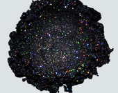 Limited Edition - Black With Holographic Silver Glitter - Carina Dolci Mineral Eye Candy Shadow VEGAN