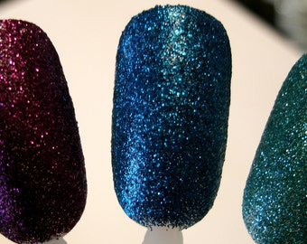 New Limited Edition Extra Long Wear Sapphire Glitter Nail Lacquer - Professional Formula Contains No Formaldehyde, Dbp