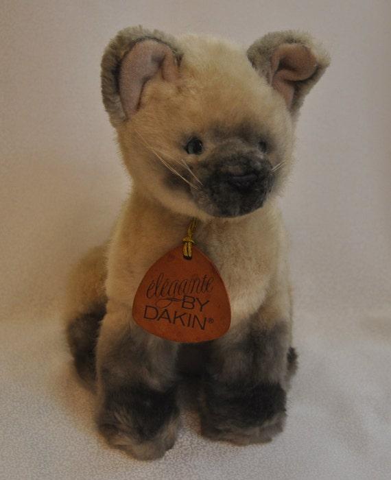 1987 Plush Stuffed Siamese Cat by Dakin