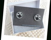 Drummer Boy Cuff  Links, Classic Black and White