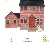 RESERVED for CAROLYN F: Custom Illustrated house portrait