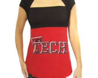 One of a Kind Gameday Shirt made w/ Texas Tech Tshirt - Small - On Sale and Free Shipping