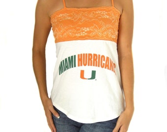 One of a Kind Gameday Shirt made w/ Miami Tshirt - XS/S - On Sale and Free Shipping