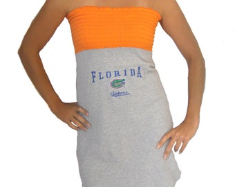 One of a Kind Gameday Dress made w/ Florida Tshirt Small - On Sale and Free Shipping