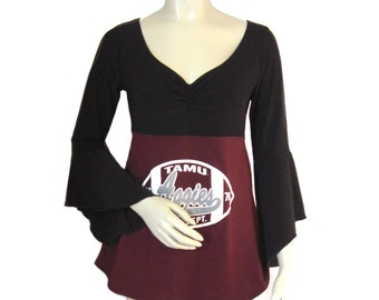 One of a Kind Gameday Shirt made w/ Texas A and M Tshirt - Medium - On Sale and Free Shipping