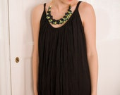 black vintage dress indian flowing