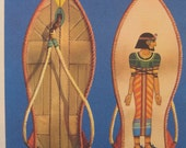 Egypt Kid decor 1960s illustration from All the universe magazine