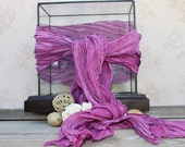 Silk Shibori Dyed Scarf in Fuschia