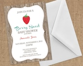 Invitations - Strawberry - DIY Printable