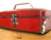 Vintage Metal Tool Tackle Box