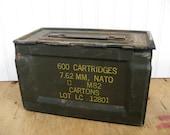 Vintage Military Ammo Box Metal