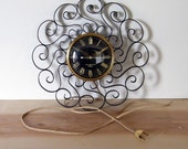 Vintage Wrought Iron Wall Clock